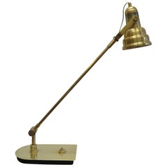 Midcentury Brass Articulating Table Lamp