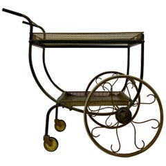 Mid-Century Brass Bar Cart or Drinks Trolley by Josef Frank for Svenskt Tenn