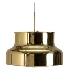 Mid-Century Brass Bumling Pendant, Anders Pehrson, Ateljé Lyktan, Sweden, 1960s