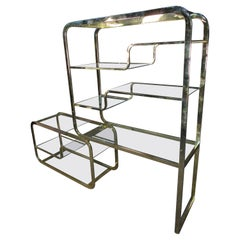 Mid-Century Brass Etagere by DIA