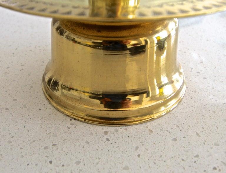 Midcentury Brass Lotus Candleholder Candelabra Feldman For Sale 3