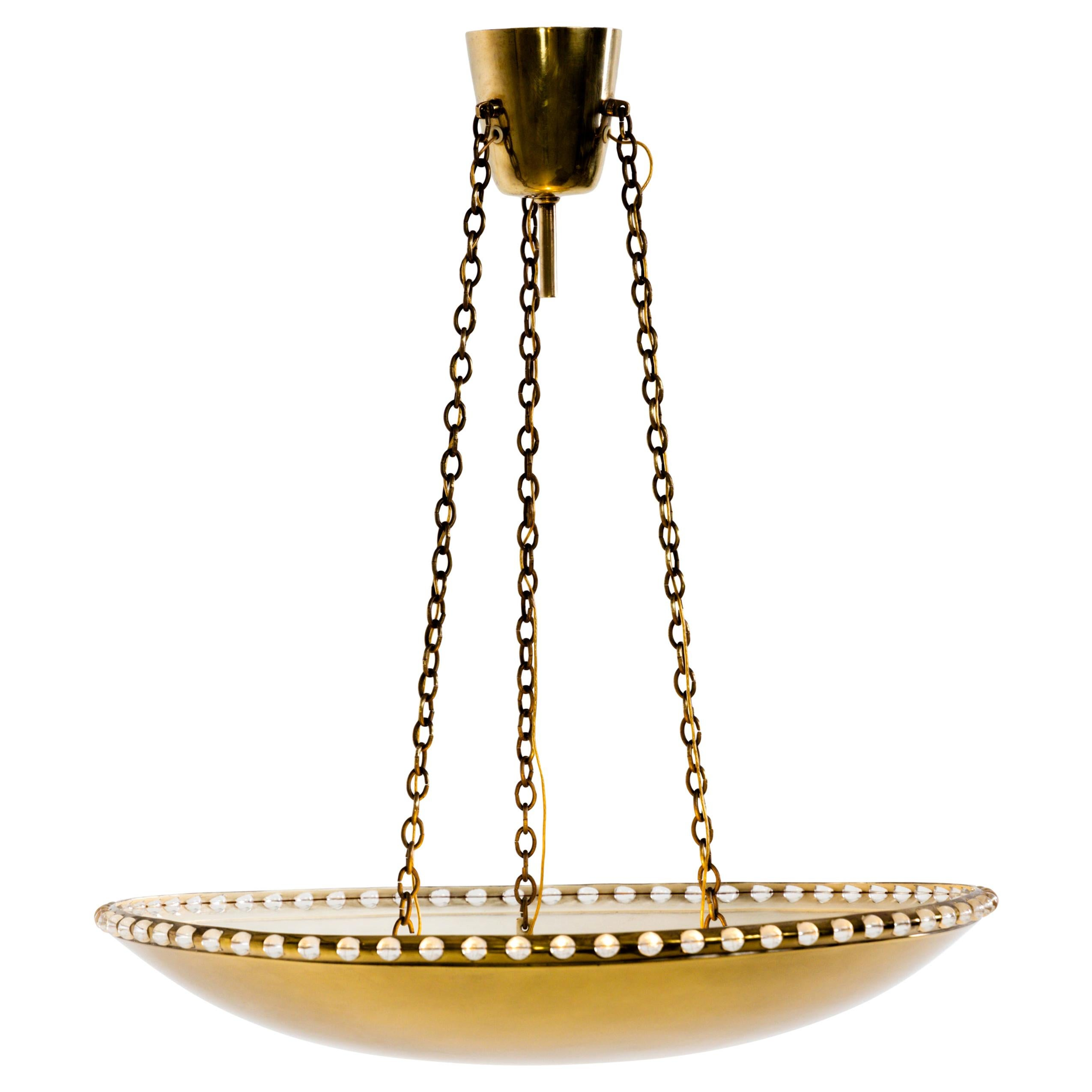 Midcentury Brass Pendant Lamp, 1970s