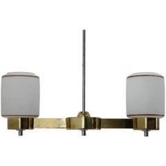 Midcentury Brass Pendant/Lidokov, 1980s
