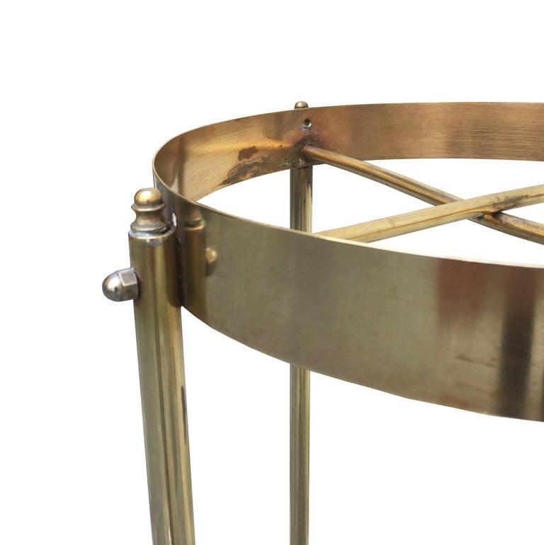 Mid-Century Modern Midcentury Brass Planter Stand or Pedestal For Sale