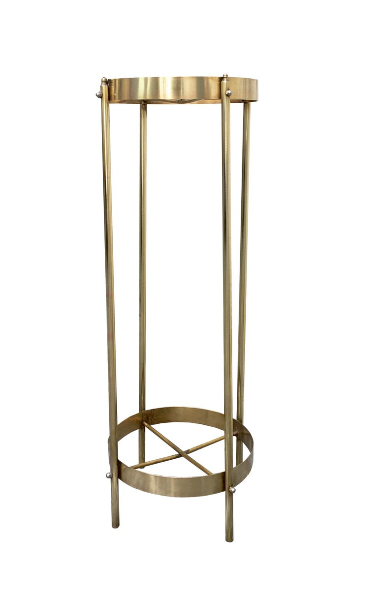 Italian Midcentury Brass Planter Stand or Pedestal For Sale