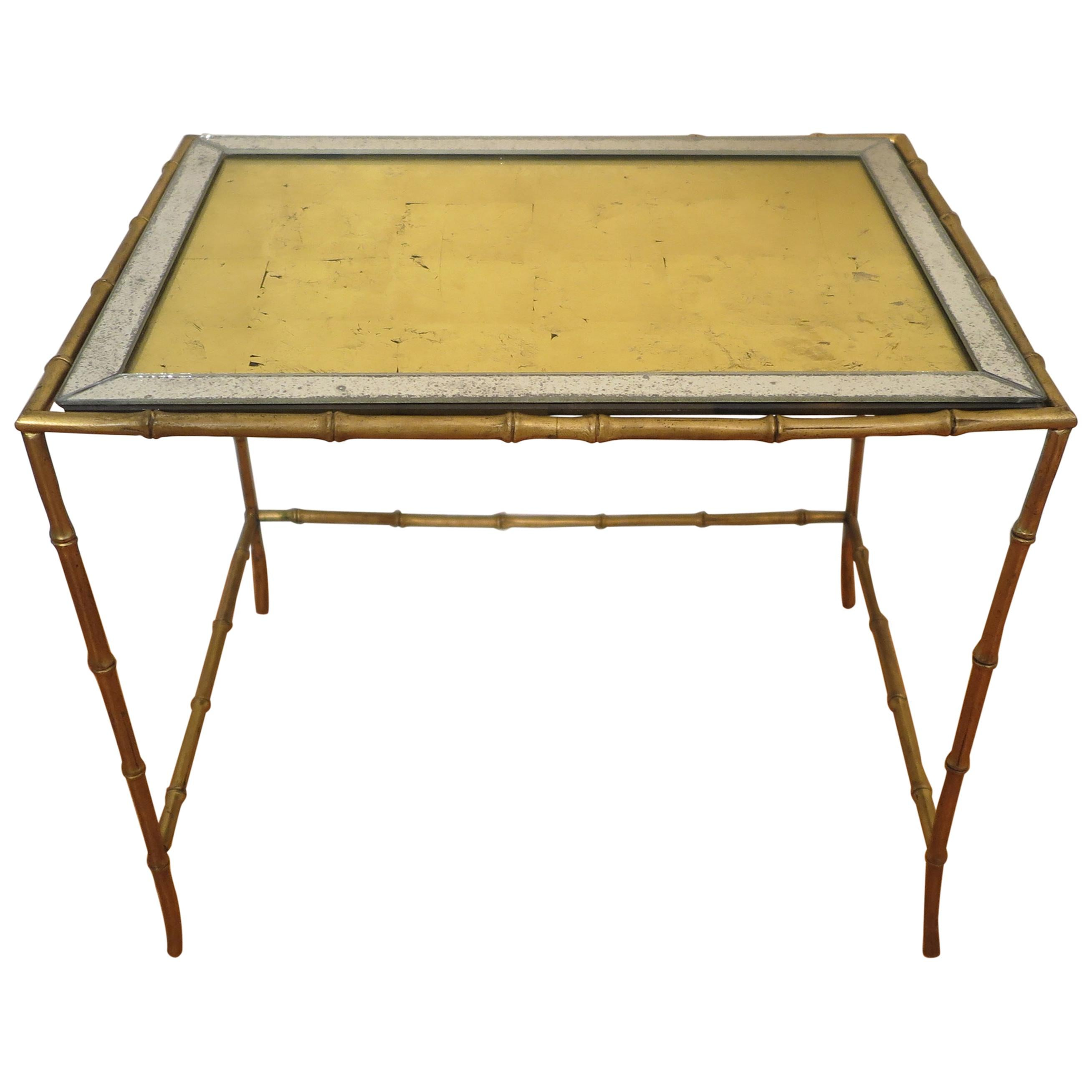 Midcentury Brass Side Table