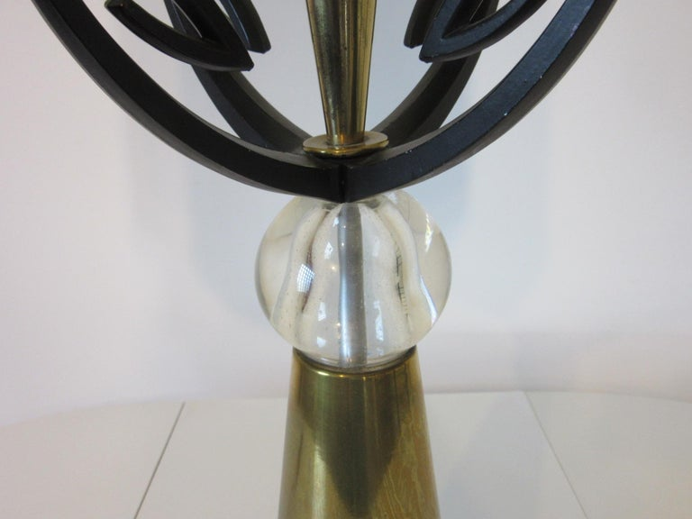 American Midcentury Brass Table Lamp / in the Style of Rembrandt, Aurora For Sale