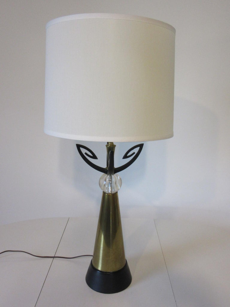 20th Century Midcentury Brass Table Lamp / in the Style of Rembrandt, Aurora For Sale