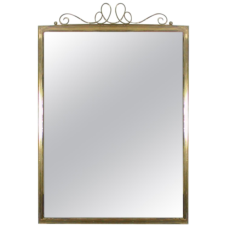 Midcentury Brass Wall Mirror, 1950s