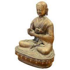 Mid-Century Bronze Buddha