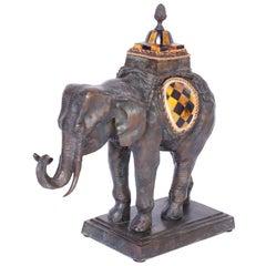 Mid Century Bronze Elephant by Maitland -Smith