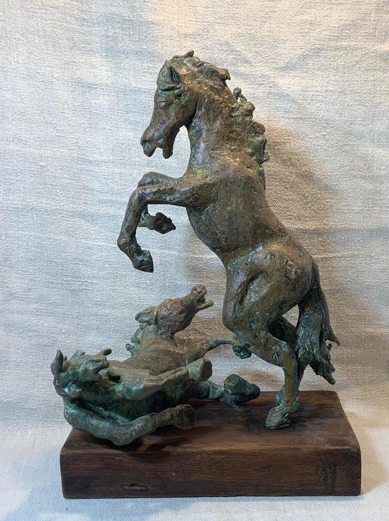 Midcentury Bronze Mustang Horse Sculpture For Sale 7