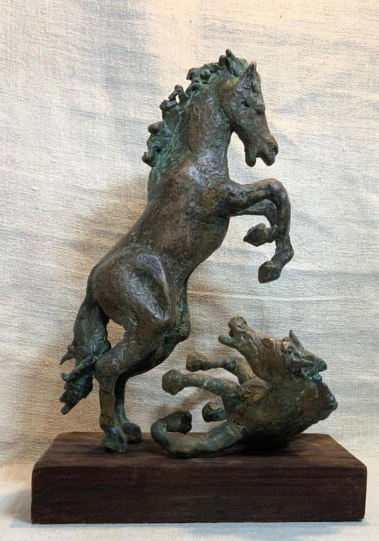 Midcentury Bronze Mustang Horse Sculpture For Sale 11