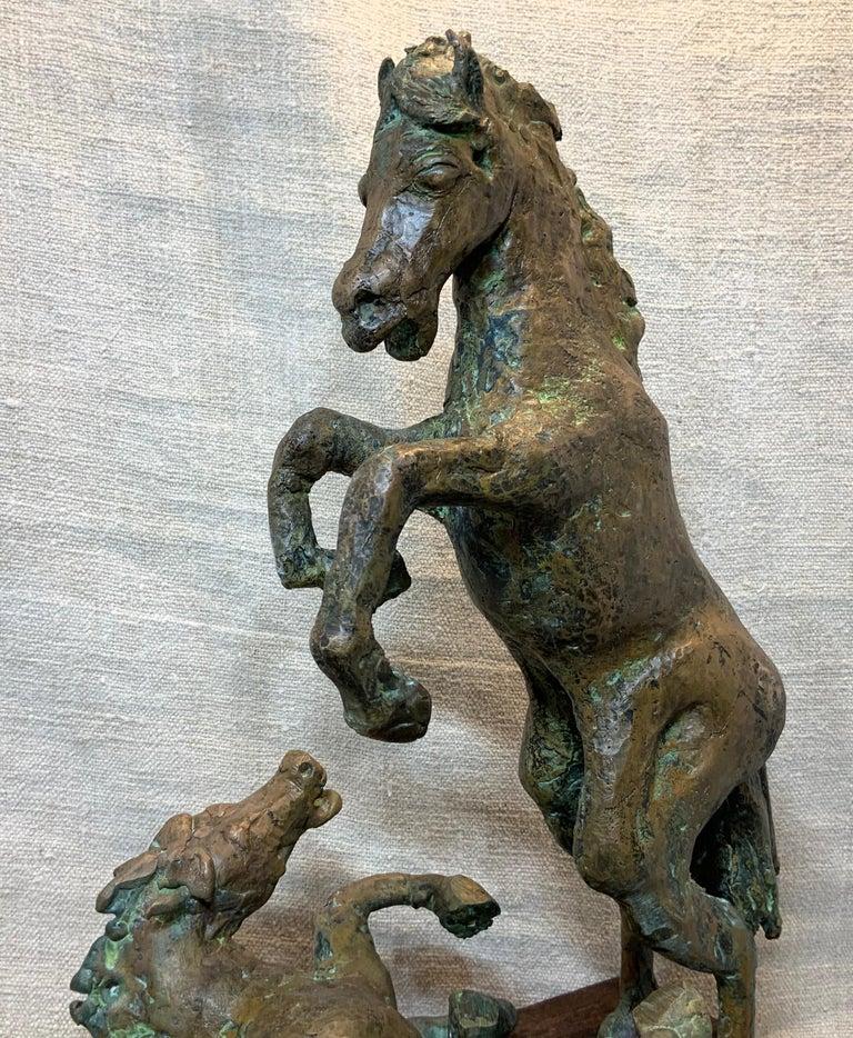 Midcentury Bronze Mustang Horse Sculpture For Sale 4