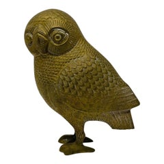 Mid Century Bronze Owl of Athena Sculpture