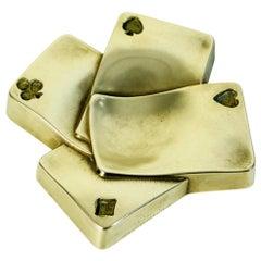 Midcentury Bronze Tray Italy