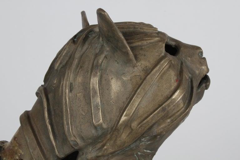 Mid-Century Bronze Welded Brutalist Mummy Cat Sculpture, Style of Jane Ackroyd For Sale 13
