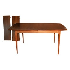 Mid Century Broyhill Brasilia Expandable Walnut Dining Table