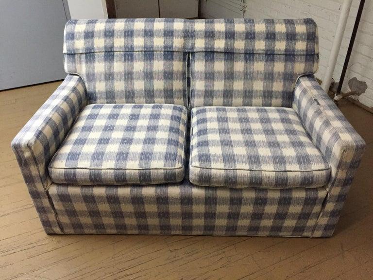 Hand-Crafted Mid -Century Brunschwig & Fils  Kravet Furniture Loveseat or Sofa For Sale