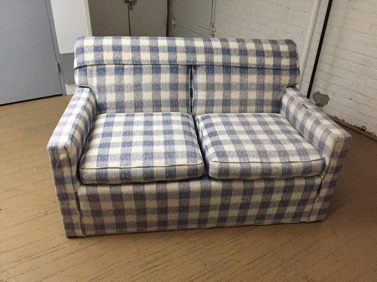 Mid -Century Brunschwig & Fils  Kravet Furniture Loveseat or Sofa For Sale 1