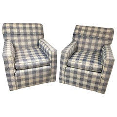 Mid-Century Brunschwig & Fils Upholstered Kravet Furniture Armchairs