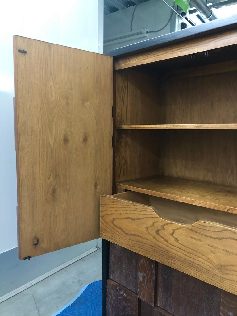 Mid-Century Brutalist Armoire by Lane In Good Condition For Sale In Salt Lake City, UT
