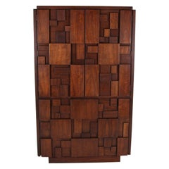Midcentury Brutalist Armoire by Lane