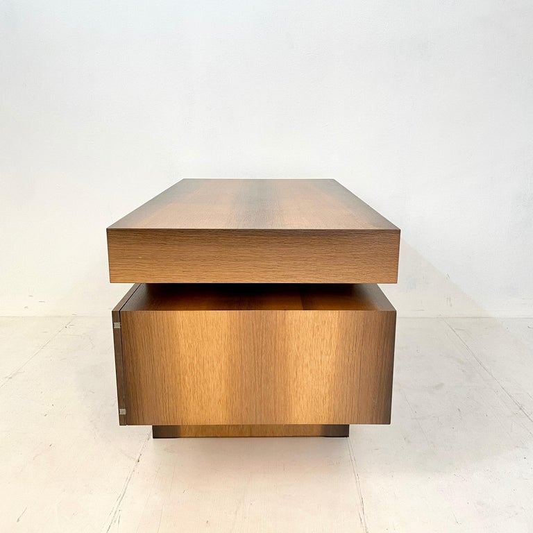 Mid Century Brutalist Desk in Bog Oak and Mahogany, around 1970s For Sale 8