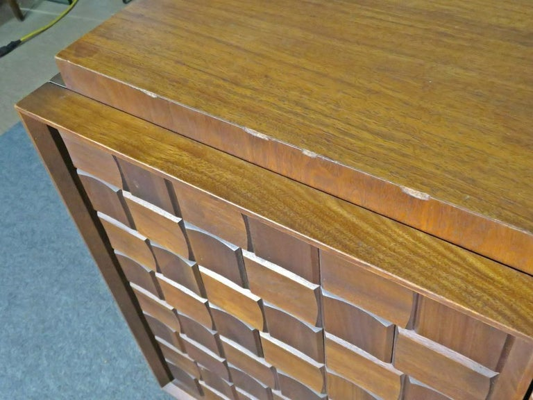 Mid-Century Brutalist Dresser In Good Condition For Sale In Brooklyn, NY