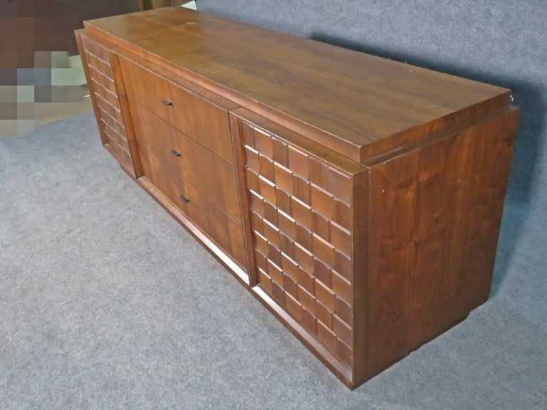 Mid-Century Brutalist Dresser For Sale 1