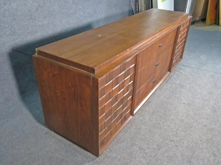Mid-Century Brutalist Dresser For Sale 2