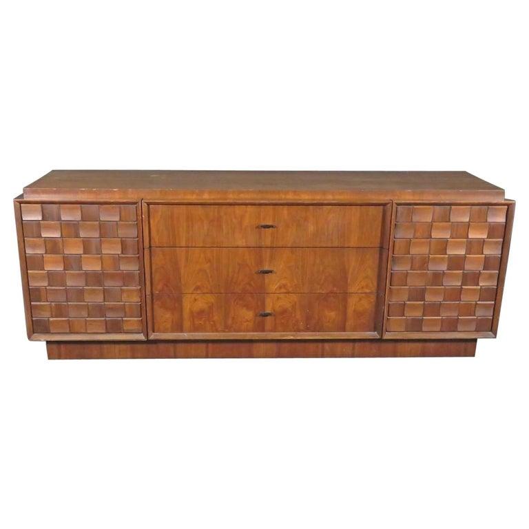 Mid-Century Brutalist Dresser For Sale