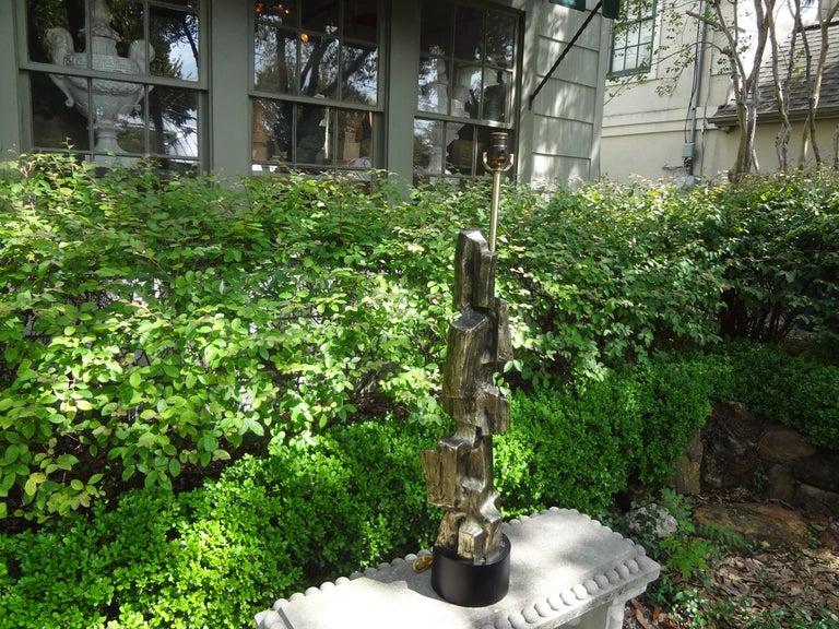 Midcentury Brutalist Lamp by Richard Barr for Laurel Lamp Company 1