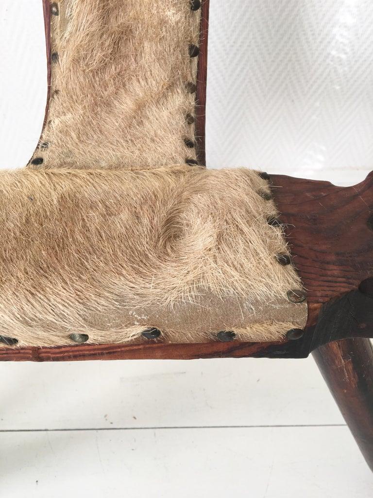 Midcentury Brutalist Spanish Stools, Chairs 4