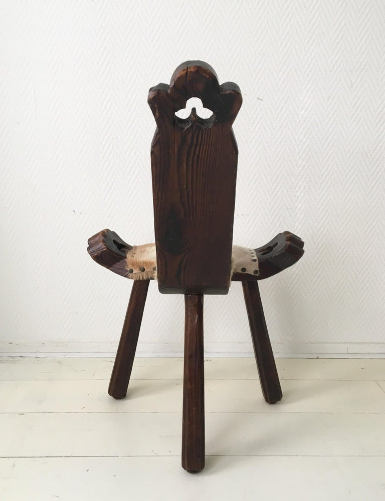 Midcentury Brutalist Spanish Stools, Chairs 7