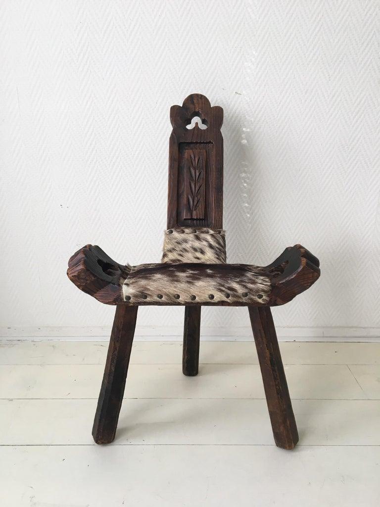 Midcentury Brutalist Spanish Stools, Chairs In Good Condition In Schagen, NL