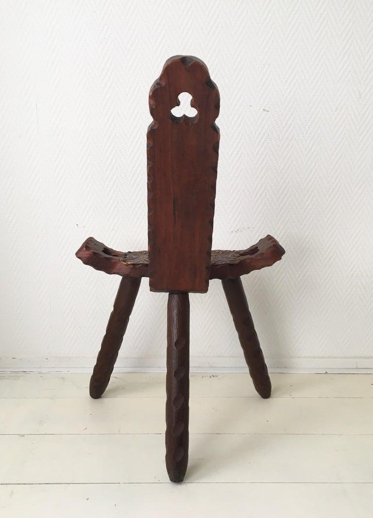 Midcentury Brutalist Spanish Stools, Chairs 1