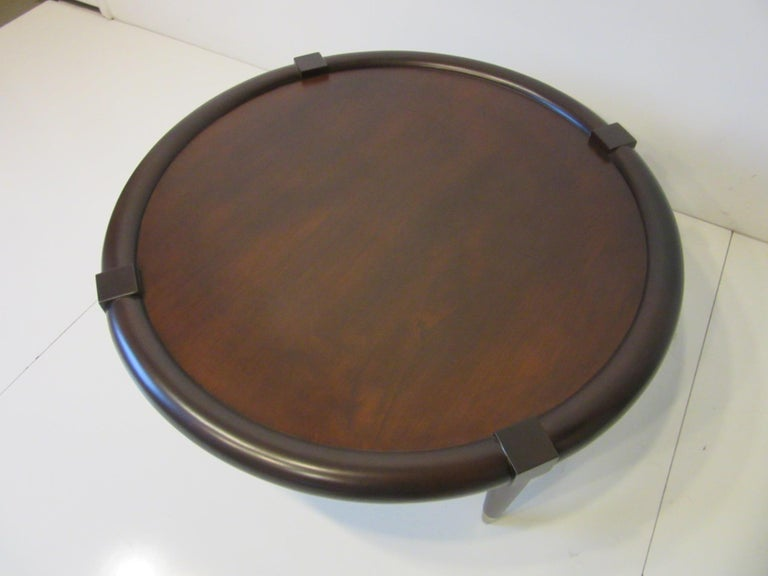 Mid-Century Modern Midcentury Bull Nose Round Coffee Table For Sale