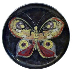 Mid Century Butterfly Ceramic Bowl by San Polo, Italy