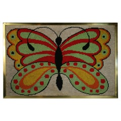 Mid Century Butterfly Embroidery