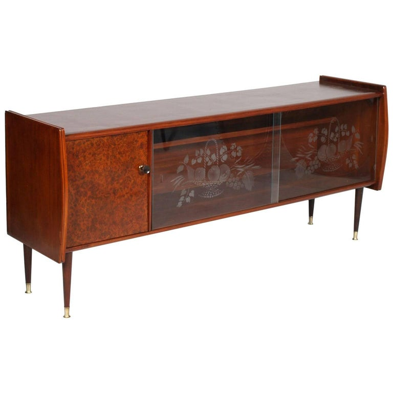 Midcentury Cabinet Art Deco from Lissone, Made in Milan, Gio Ponti Attributable