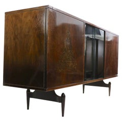 Mid Century Cabinet Dry Bar in the Style of Ico Parisi
