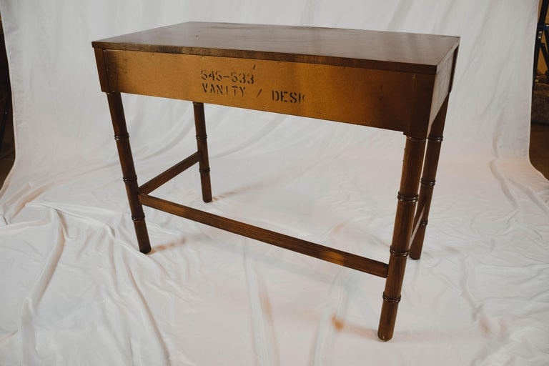 Midcentury Campaign Style Desk by Dixie Furniture For Sale 1