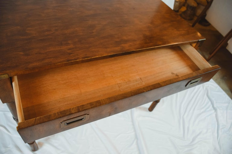 Midcentury Campaign Style Desk by Dixie Furniture For Sale 2