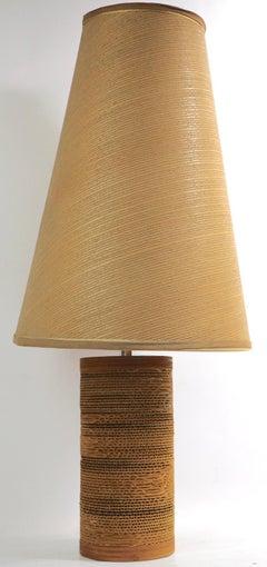 Mid Century Cardboard Lamp by Gregory Van Pelt
