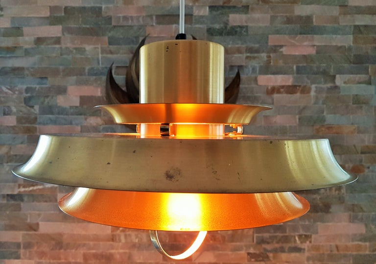 Mid-20th Century Midcentury Carl Thore Pendant Chandelier Danish Modern For Sale