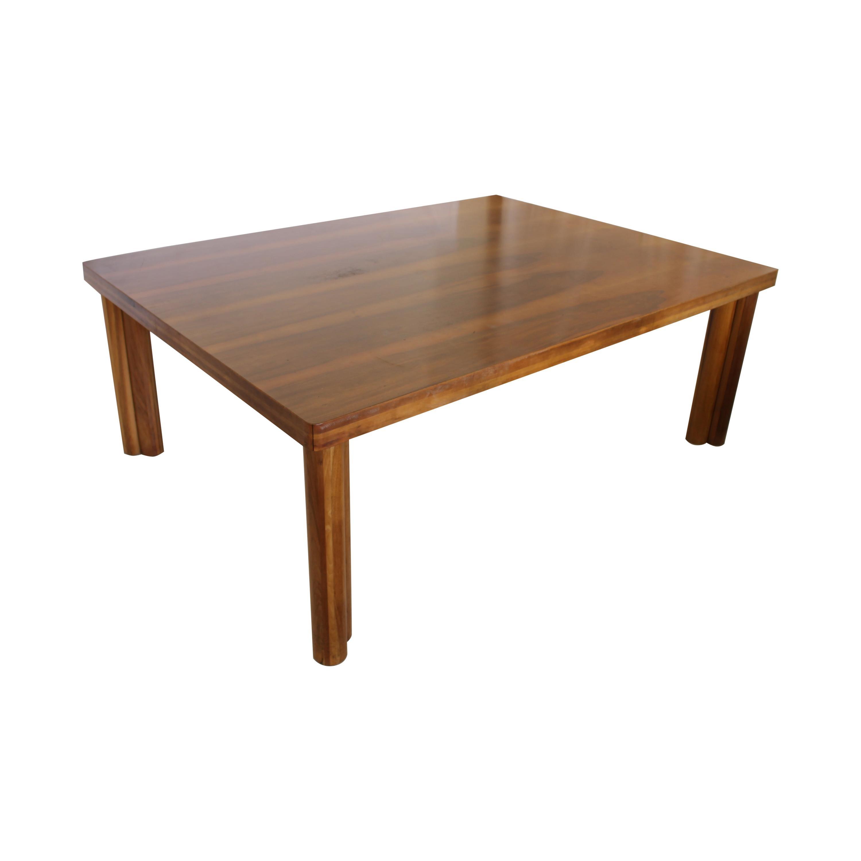 Midcentury Carlo Scarpa Natural Walnut Italian Large Dining Table, Bernini 1977