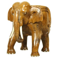 Midcentury Carved Elephant Chair