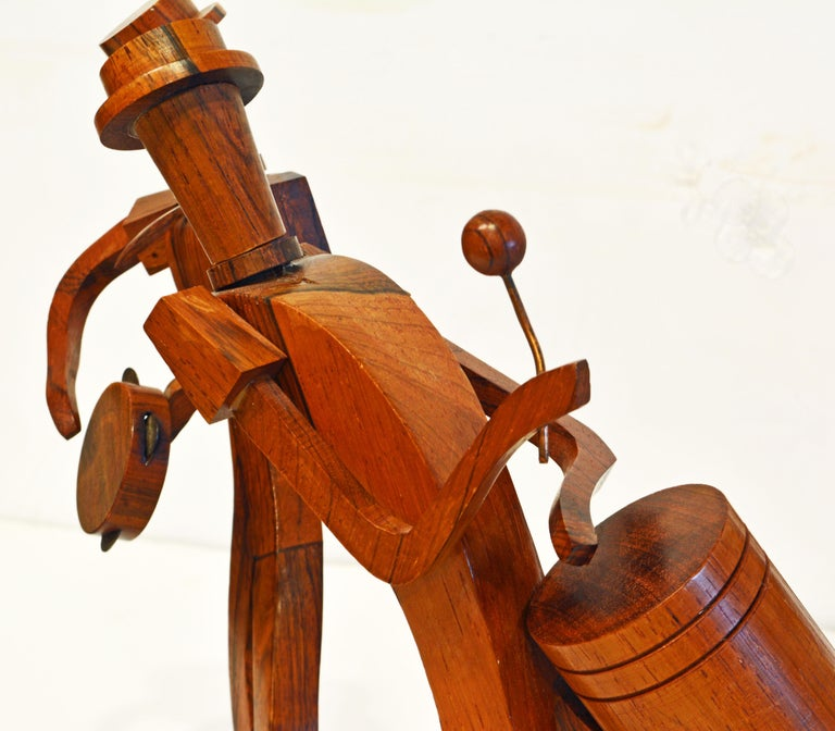 Midcentury Carved Rosewood Latin American Cubist Style Four Musicians Band For Sale 1