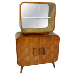 Midcentury Cataloque Display Case by Jindrich Halabala for Up Zavody, 1940s